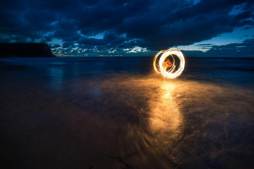 Garie Beach Firepainting-1