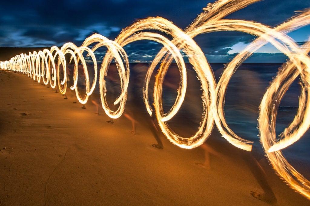 Garie Beach Firepainting-2