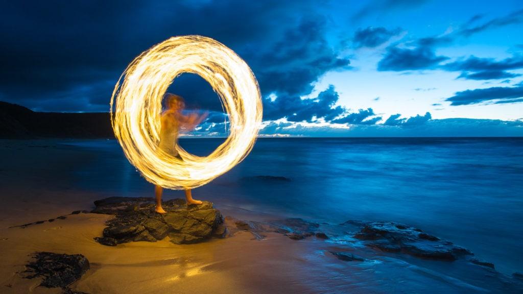 Garie Beach Firepainting-3