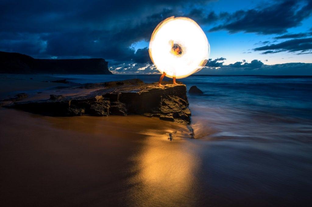Garie Beach Firepainting-4