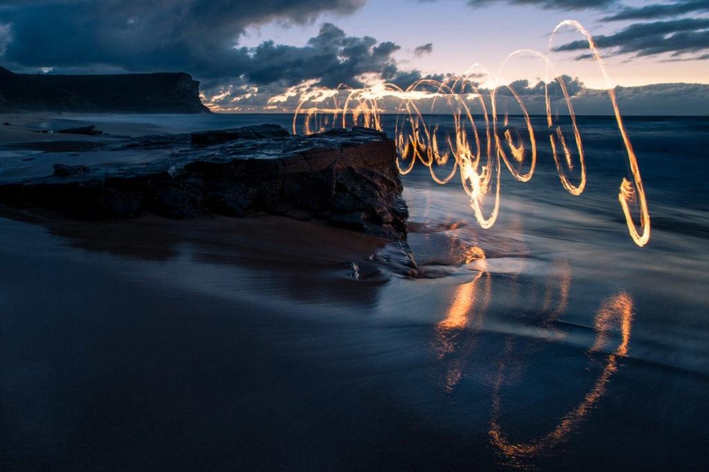 Garie Beach Firepainting-7